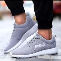 Sepatu Wanita / Sepatu Kets / Sepatu Kets Sneaker Jaring 360 Abu