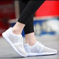 Sepatu Wanita / Sepatu Kets / Sepatu Kets Jaring Putih