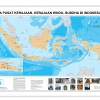 Peta pusat kerajaan-kerajaan Hindu Budha Di Indonesia