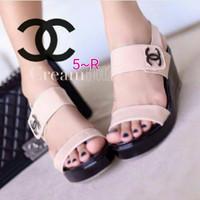 Special Sandal Cantik Canel Replika Best Seller Terpopuler