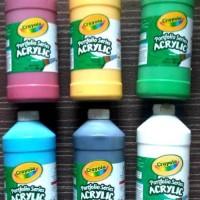 Crayola - Paket Promo 6 Botol Cat Acrylic 946 Ml