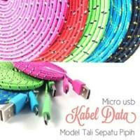 harga Kabel Micro Flat Tali Sepatu 3 Meter Tokopedia.com