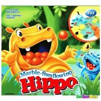Mainan Edukasi Anak Marble Swallowing Hippo | Family Game Seru