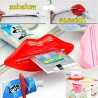 Jepitan Odol Bentuk Bibir / Alat Penjepit Odol / Dispenser Odol - X106