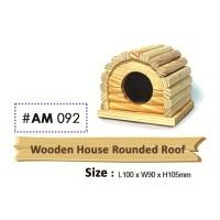Wooden House Rounded Roof Rumah Kayu Atap Bulat Hamster Gerbil