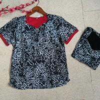 baju import XL BIG SIZE jumbo/ kaos imlek korea brukat bangkok loreng