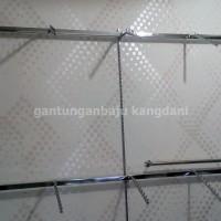 Gantungan Pipa Kotak Set Hanger Suling Untuk Display Ala Distro