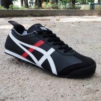 harga asics onitsuka tiger - hitam list putih merah / sepatu sneakers Tokopedia.com