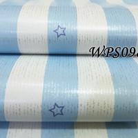 WPS098 WALLPAPER STICKER DINDING BLUE - WALPAPER STIKER IMPORT