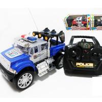 Mainan Mobil RC / Mobil-Mobilan Remot / Remote Jeep Police Car 1;24