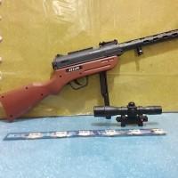 mainan senapan plus laser tembak burung peluru bb 6mm kokang