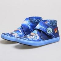 sepatu anak laki-laki / sepatu lukis gambar karakter boboy biru bsm