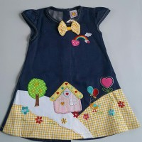 harga baju bayi dress denim anak perempuan cewek lucu murah bagus SSRMH225 Tokopedia.com