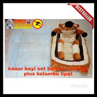 harga kasur bayi karakter boneka set bantal 1 guling 2 + kelambu lipat Tokopedia.com