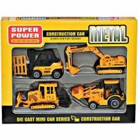 Mainan Mobil Metal Construction Car 4 Pcs