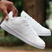harga Sepatu Wanita Sneakers Adidas Stan Smith Full White Tokopedia.com