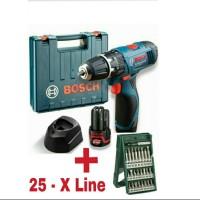 Bosch GSB 1080-2-Li Cordless Impact Drill + Bosch 25 X-Line Set-Paket