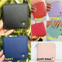 Jual Dompet wanita import crown zipper wallet kecil fashion korea imut lucu Murah