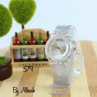 jam tangan swatch glitter wanita / jtr 579 putih