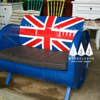 Kursi sofa drum england / inggris