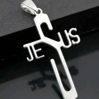 harga Kalung Pria Wanita Aksesoris Cowok Cewek Vintage Salib Jesus Tokopedia.com