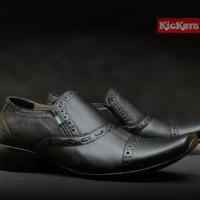 Sepatu Kerja Pria Kickers Pantofel Kulit Hitam