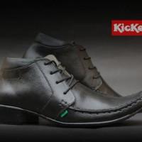 Sepatu Kerja Kantor Formal Pria Kickers Pantofel Kulit Hitam