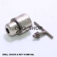 Kepala Mesin Bor 10 Mm H&L (Chuck & Key)