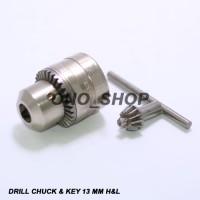Kepala Mesin Bor 13 Mm H&L (Chuck & Key)