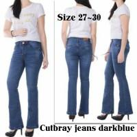 Cutbray Jeans Dark Blue / Jeans Cutbray Wanita / Jeans Cutbray Cewek