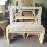 meja rias koin jati (Furniture,kursi tamu,lemari, bufet,meja makan)