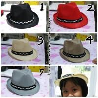 topi koboi anak lucu/topi fedora kids cute/topi tompi anak cute