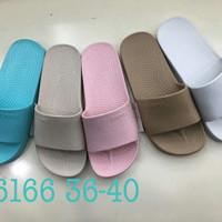 6166cewek Sendal Sandal Cewek Kop Luofu Karet Import