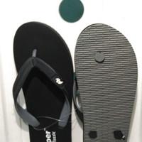 Fipper Cow Hitam Abu / Sandal Fipper / Sandal Jepit / Sandal Flipper Cowok