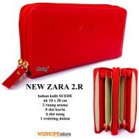 DOMPET WANITA NEW ZARA DOUBLE ZIPPER TWORUM Merah