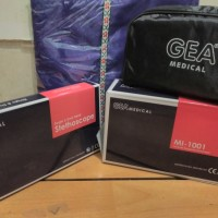 Sepaket Tensi Aneroid Gea dan Stetoskop Duel Head Economy Gea