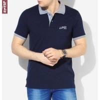 Jual Polo Shirt Pria Levis Navy / Kaos Polo Kerah Wangki Shirt Murah