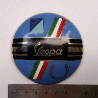 Badge Vespa Scooter Racing Convex P/Piaggio Fred Perry Flag Italy