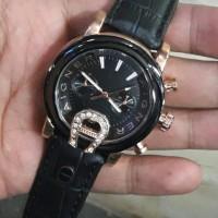 Cindy Shop//New!!! Jam Tangan wanita Aigner Tali Kulit kw Super Black
