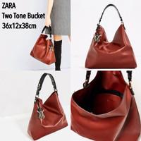 Zara Two Tone Bucket Bag Original
