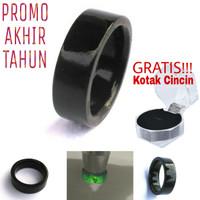 Promo Ring/cincin Black Jade Flat