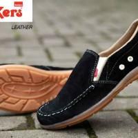 sepatu slip on pria kickers kulit asli sepatu casual alas karet mentah 90b0598993