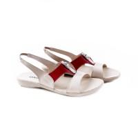 27836-40 Sandal Wanita Cream Comb SENDAL WANITA SEPATU WANITA FLAT S