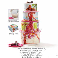 Miss Belle Canister Tupperware Toples Susun 4 Promo