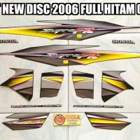 Striping Supra Fit New Disc 2006 Full Hitam ( Kuning )