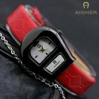 JAM TANGAN WANITA AIGNER A052 RED BLACK