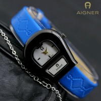 JAM TANGAN WANITA AIGNER A052 BLUE BLACK