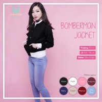 Ready Stok Bomberman Jacket Black High Quality Tebal Murah Meriah