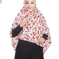 Jilbab Syiria Bahan Bubble Pop Lembut Motif Bunga Cantik - JL626