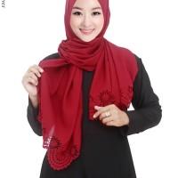 Jilbab Pashmina Bahan Ceruti Diamond Motif Polos - PM45